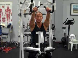 Hammer strength machine pulldown