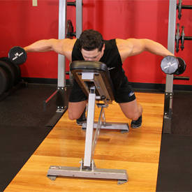 Lying incline rear-lateral raise