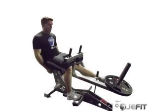 Single-leg calf press
