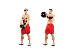 standing straight-arm plate raise