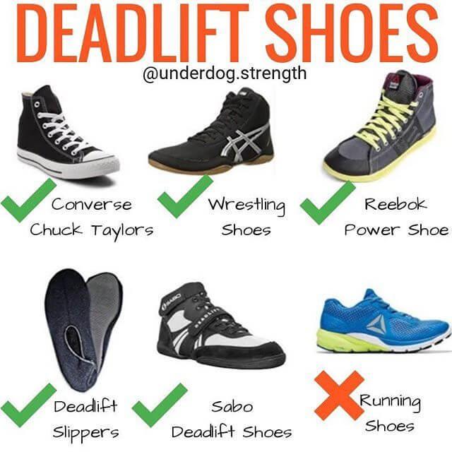 الحذاء المناسب لتمرين الديدليفت
