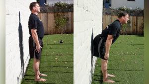 تمرين المرجحة swing بدون وزن للتخلص من الام اسفل الظهر