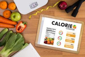 حساب السعرات الحرارية في نظام غذائي للتنحيف