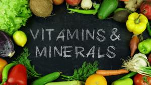 محتوى نظام غذائي للتنحيف من الفيتامينات والأملاح المعدنية