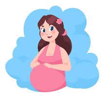 صورة كرتونية لامرأة حامل
